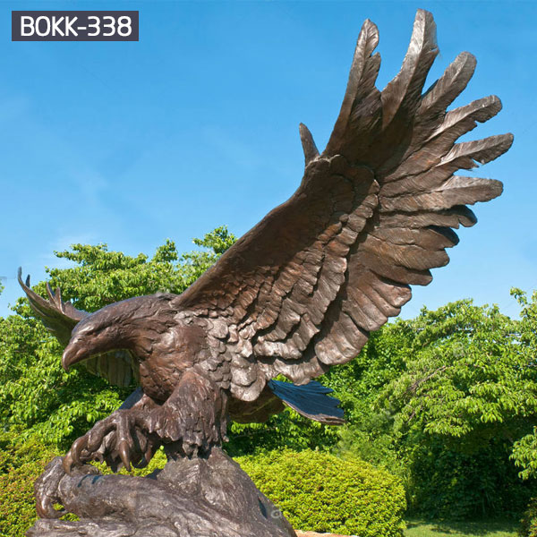 Large bronze eagle sculptures outdoor metal art for sale