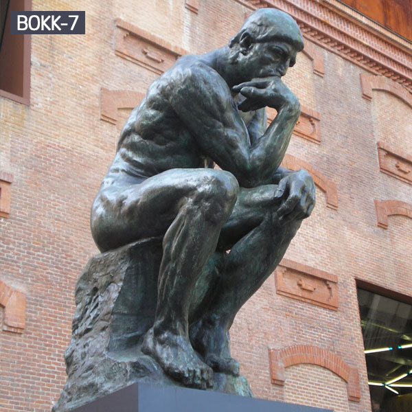 Rodin the thinker thinking man replica bronze sculpture outdoor